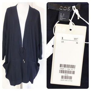 NWT! COS navy cotton jacket